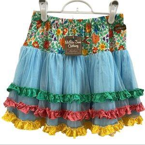 Matilda Jane Field Of Flowers Skirt 10 NWT